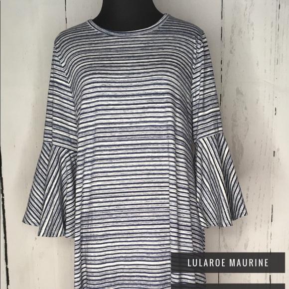 716a58bf053 Lularoe • Blue striped Maurine dress
